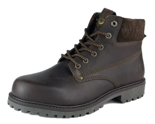 Wrangler - Arch Dark Brown Lace Up Boots